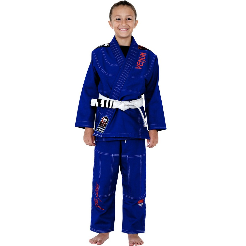 "Кимоно Детское Venum ""Challenger 2.0"" Kids BJJ Gi Royal Blue"