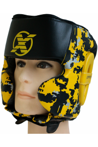 Шлем Fight Expert Military Black Yellow